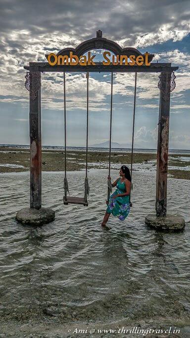 Me in the Gili Swing on Gili Trawangan