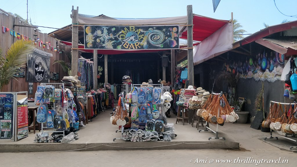 Shopping at Gili Islands