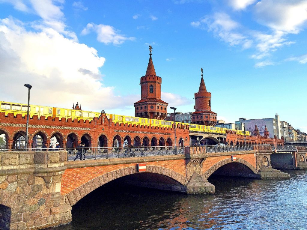The famous Oberbaum Bridge that connects to the Friedrichshain district