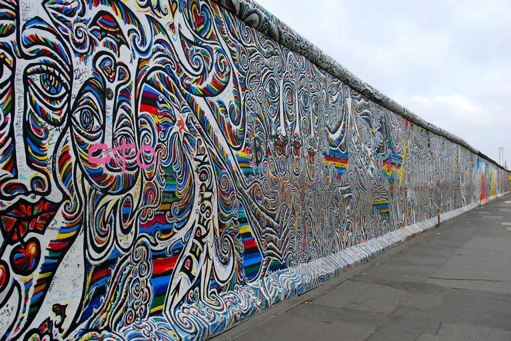 One of the main attractions of Berlin - the Berlin Wall