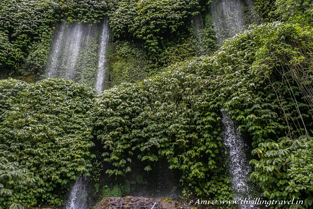 Air Terjun Benang Kelambu Waterfalls in Lombok, Indonesia