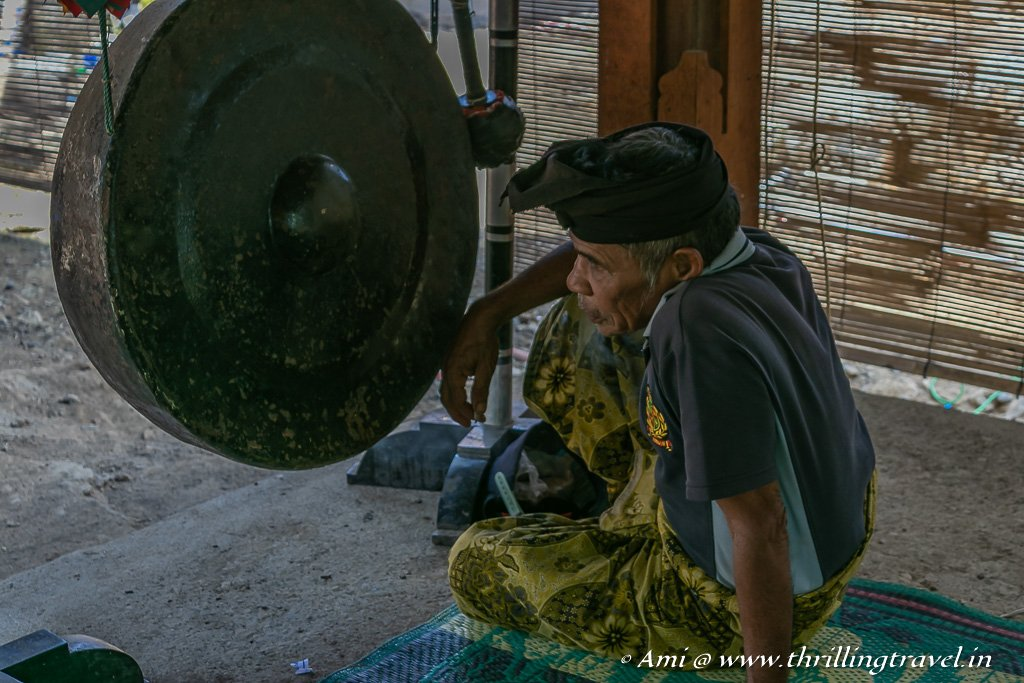 Gengong -the traditional Sasak Gong