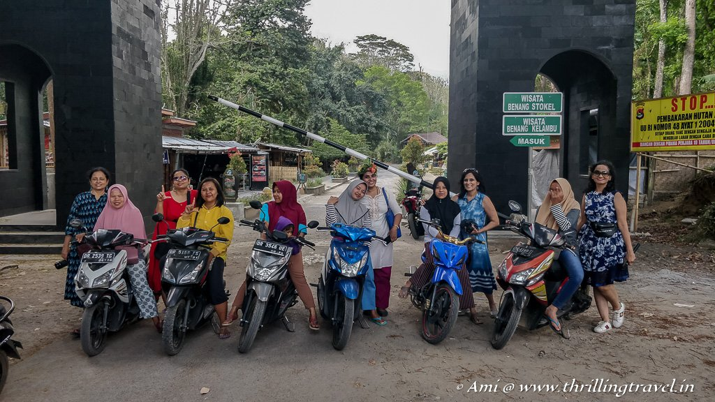 Our power-packed riders who took us to Benang Kelambu falls