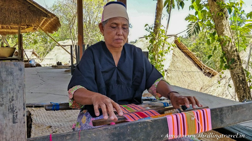 Weaving is an art and a key occupation of the Sasak women