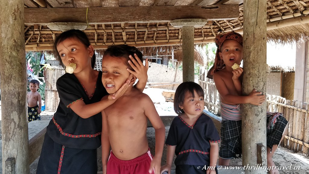The Sasak Village Kids who entertained us with funny rhymes
