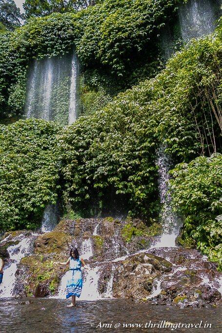 Wading through Benang Kelambu waters