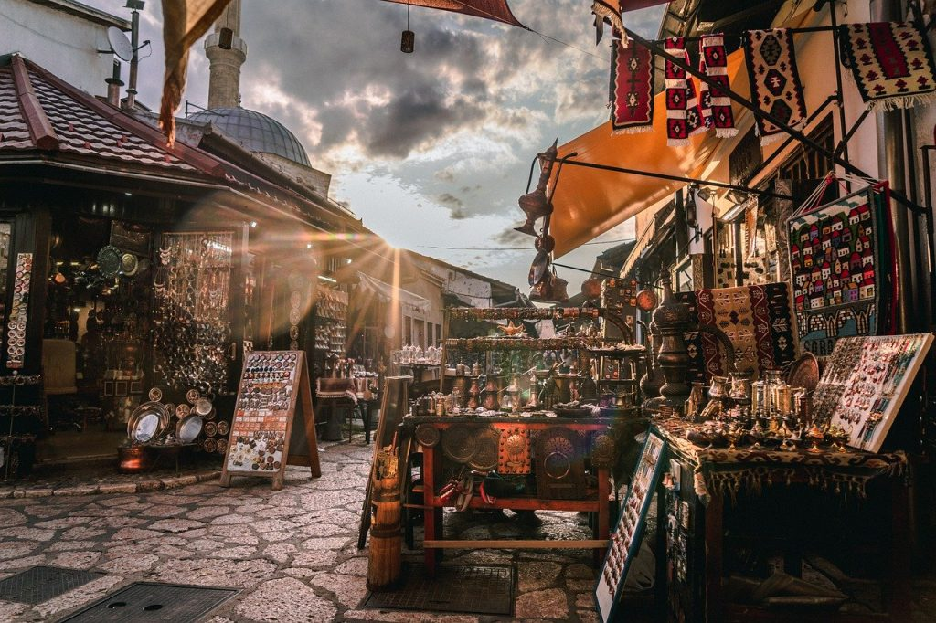 Wander around the Old Town of Sarajevo
