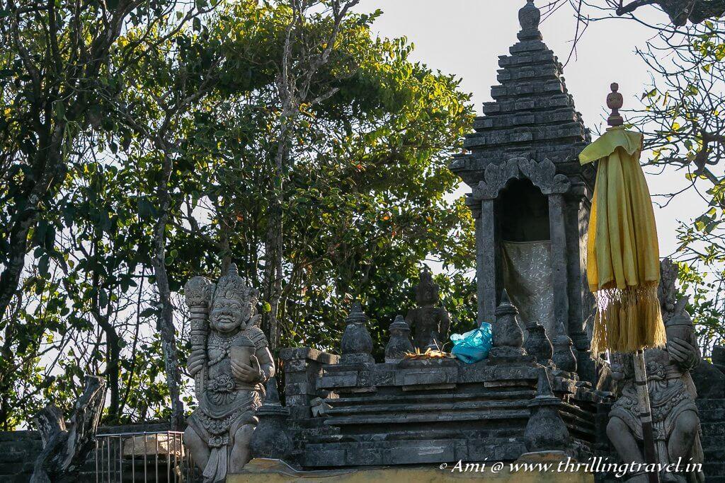 The guardians at the Uluwatu temple gate