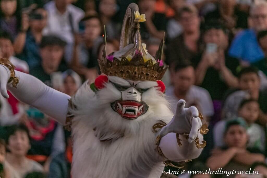 Hanuman in the Uluwatu Kecak Dance