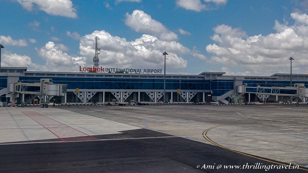 Lombok International Airport has a lot of flights coming in from Singapore and Malaysia