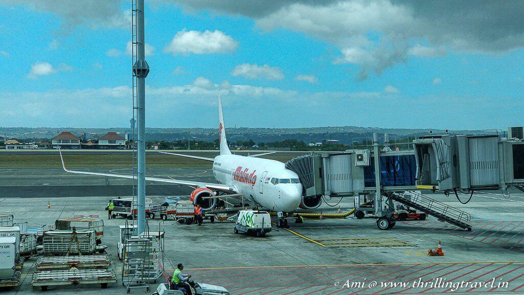 Malindo Air has regular flights to Denpasar
