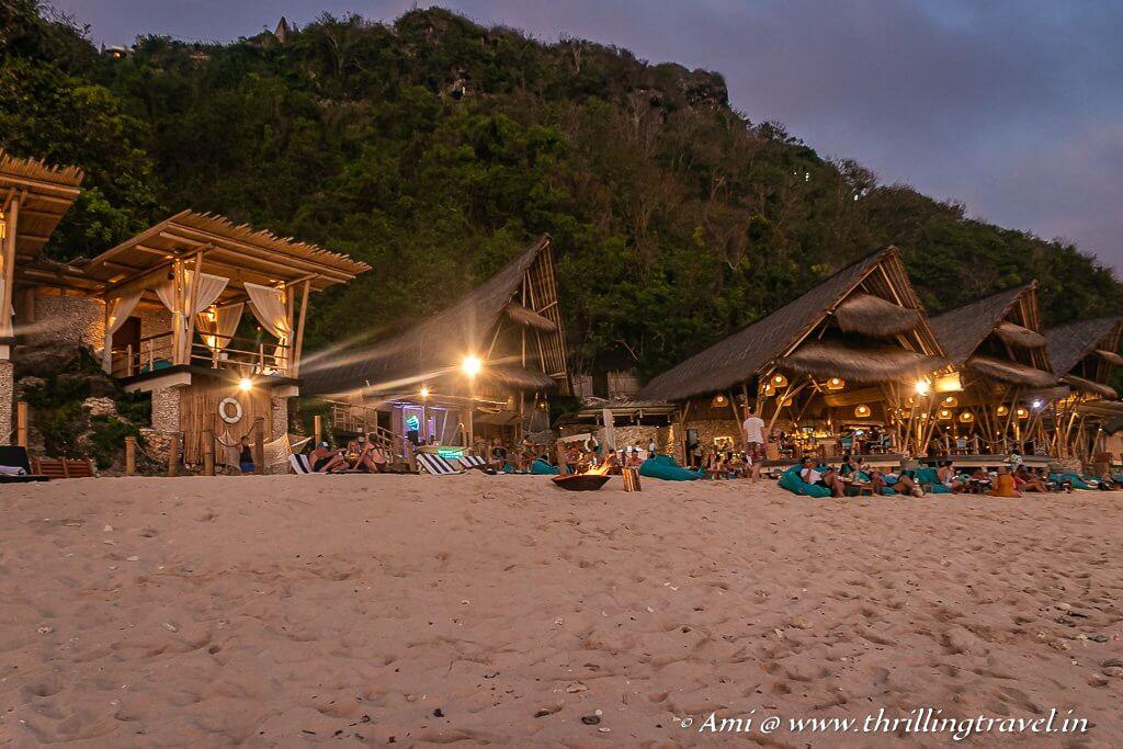 Sundays beach club near Uluwatu temple
