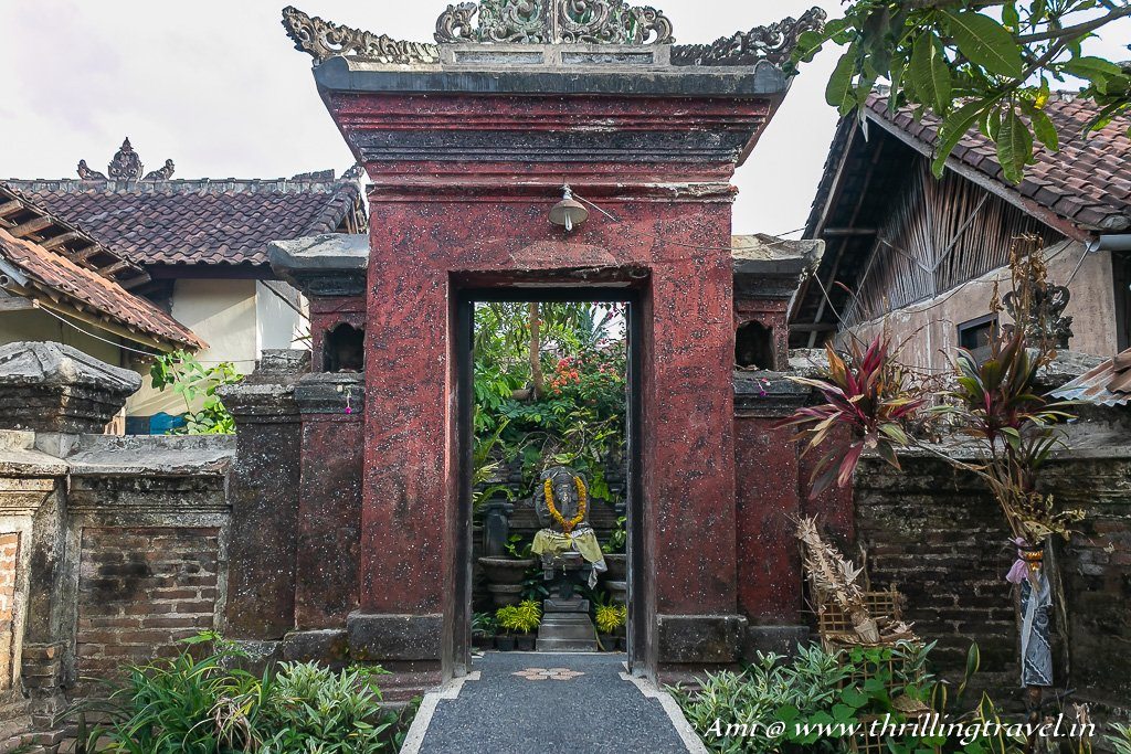 Angkul Angkul - the boundary of a home as per Balinese Architecture