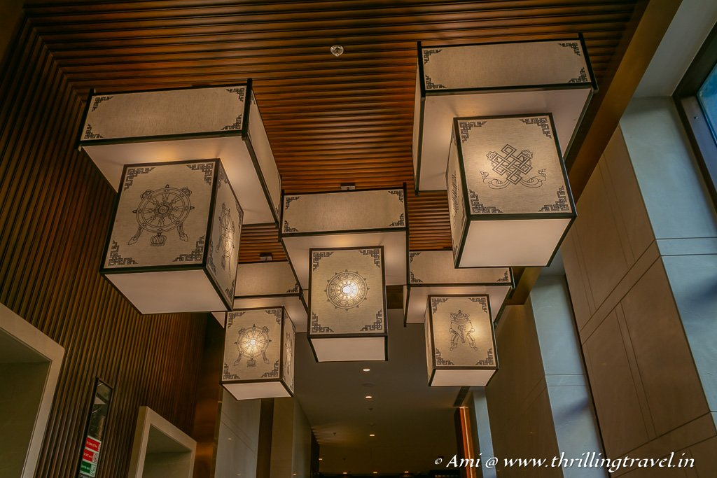 The Indo-Tibetan decor of Hyatt
