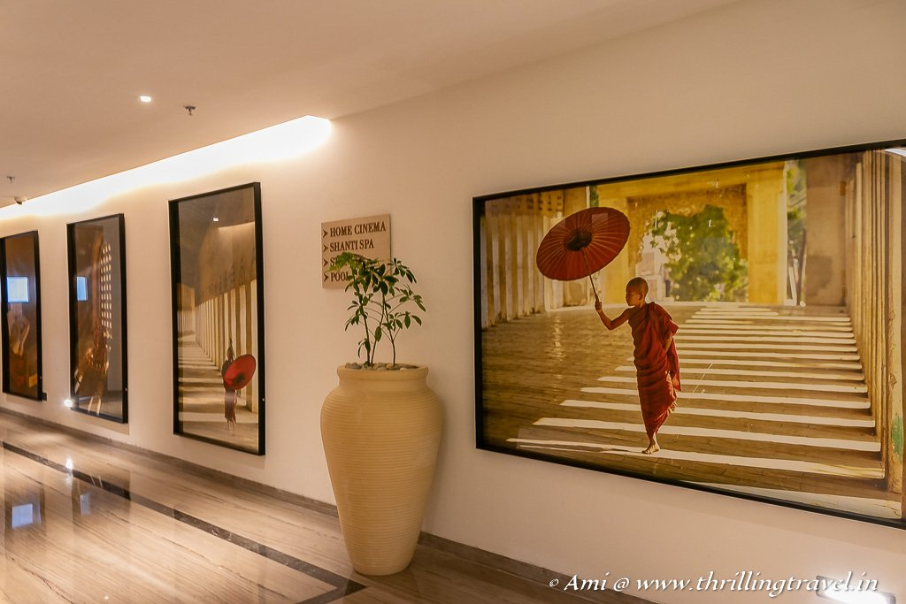 Interiors reflective of the Buddhist culture