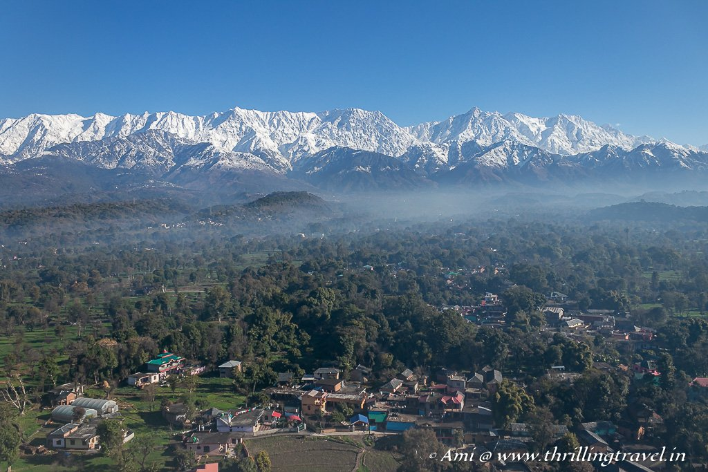 Dharamshala as seen from my window seat