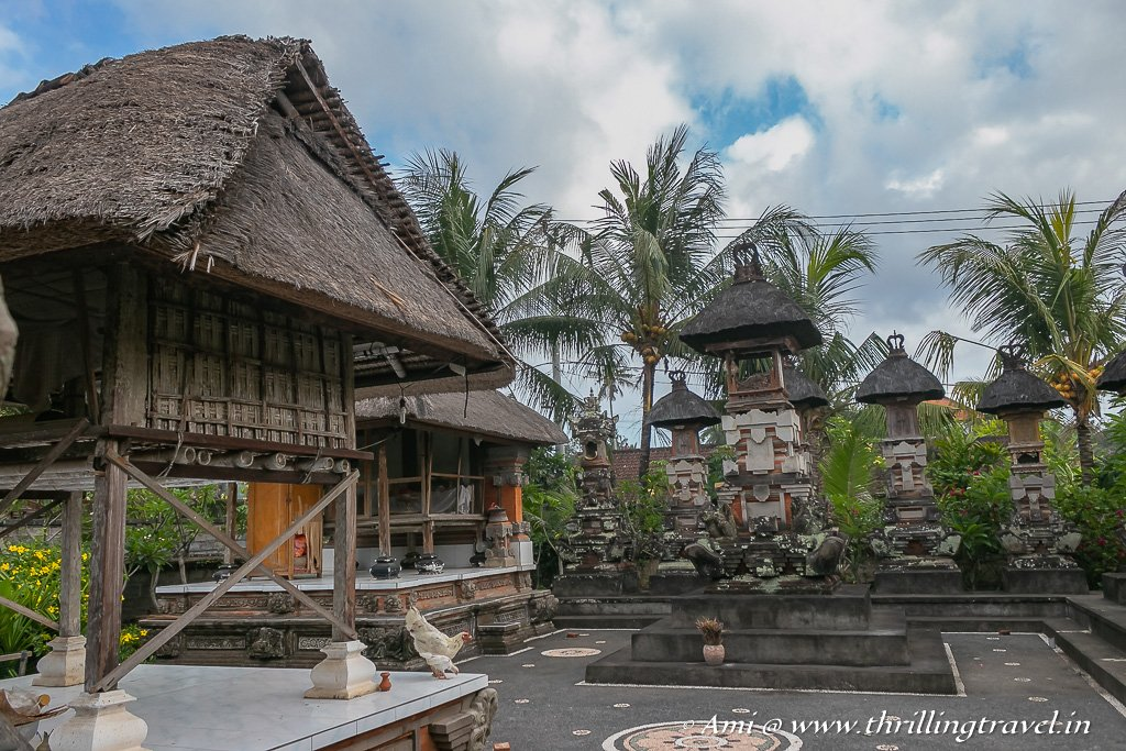 The Sanggah or the Family temple with its five shrines - an integral part of the Balinese Architecture