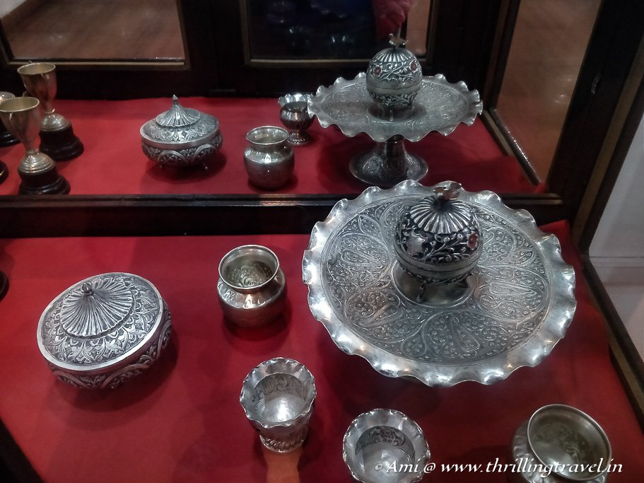 Some silverware displayed at the museum