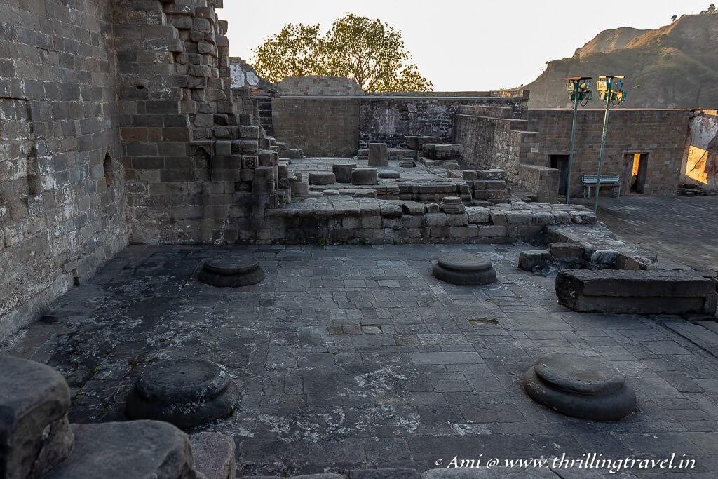 The front of Laxmi Narayan temple at Kangra Fort