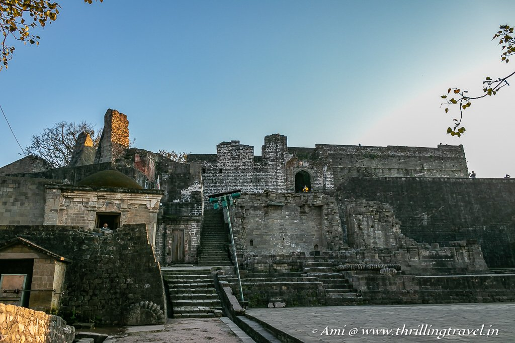 The collapsed temples of Kangra fort, Himachal Pradesh