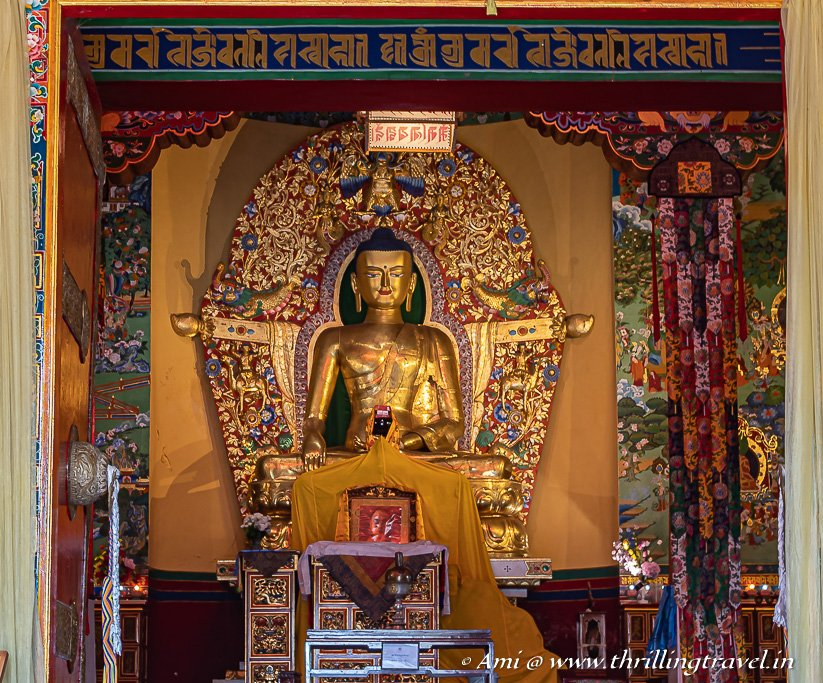 The Golden Buddha of Norbulingka Temple