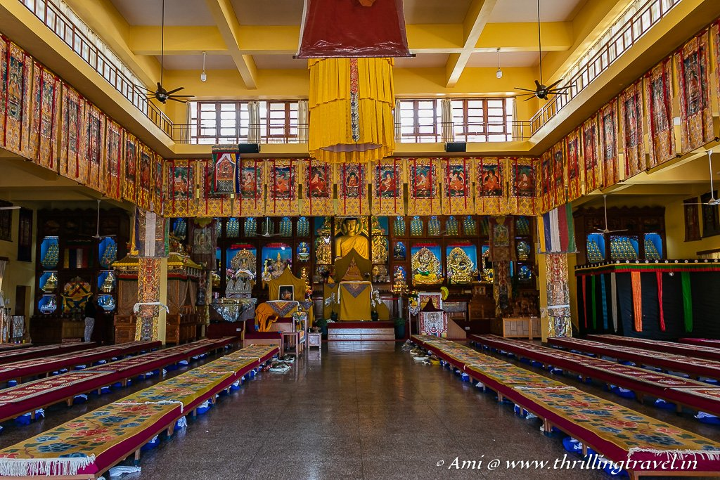 The interiors of Gyuto Monastery, Dharamshala