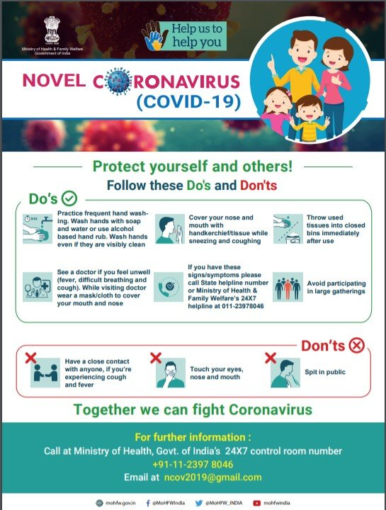 Dos and Dont's in times of Coronavirus