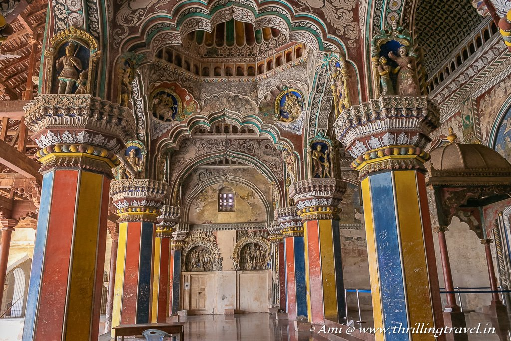 Hallway of the Durbar Hall of Thanjavur Fort