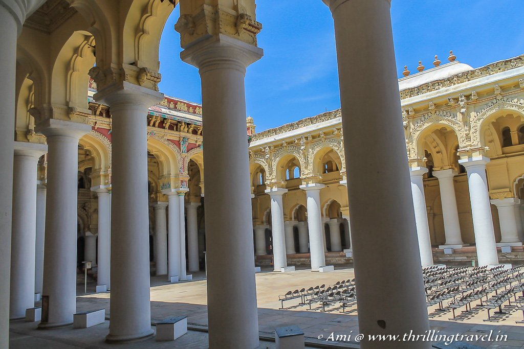 The gigantic royal abode - Thirumalai Nayakar Palace in Madurai
