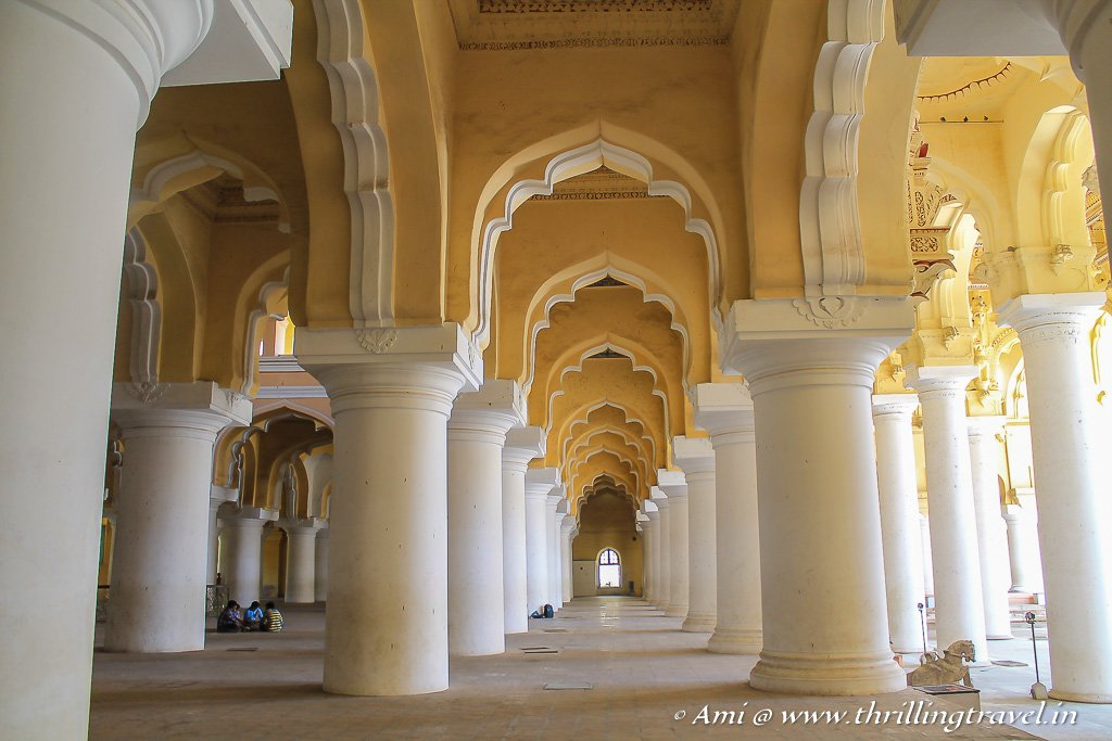 Simple arches that tell a story at the Thirumalai Nayakar Mahal of Madurai