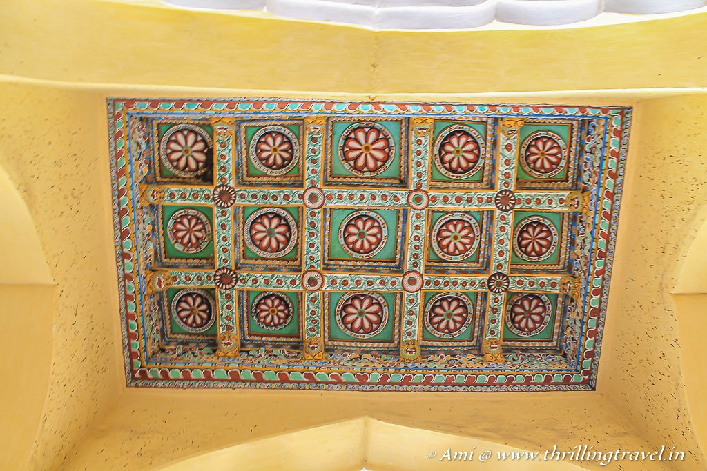 The ceiling that resembled the doors of Rajasthan and Gujarat