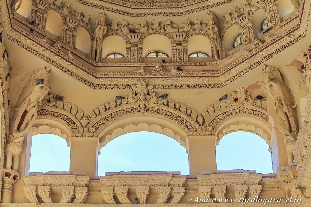 Windows to allow natural light into the palace of Nayakar