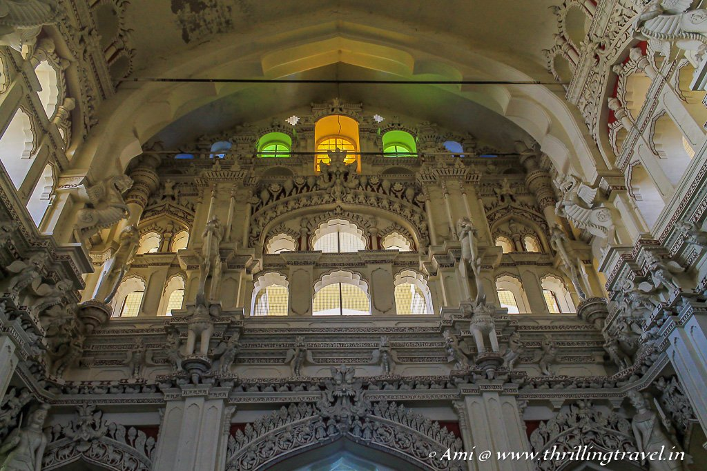 The stained glass windows of Ranga Vilasam