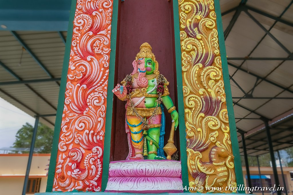 Adhyanath Prabhu - half Ganesha and half Hanuman - at the Andavar Solai Temple