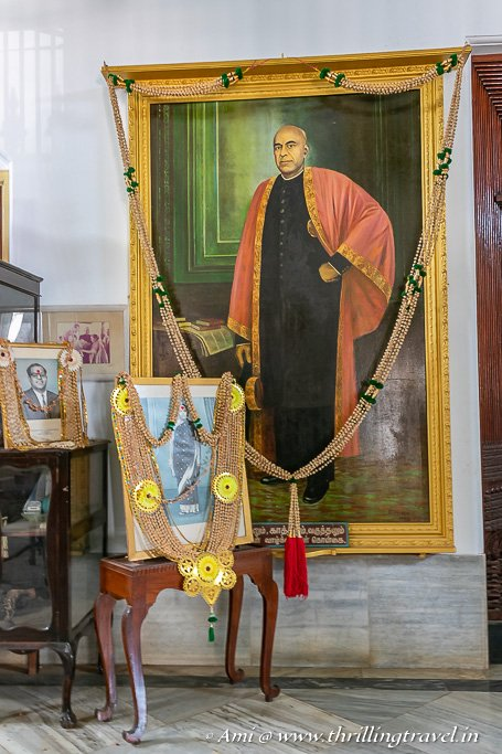 Portrait of Sir Annamalai Chettiar in his residence - Kanadukathan Palace