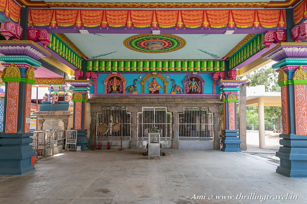 The shrine of Ayyanar Temple in Chettinad