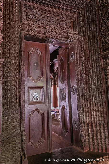 Getting closer to the doors in a Chettinad mansion