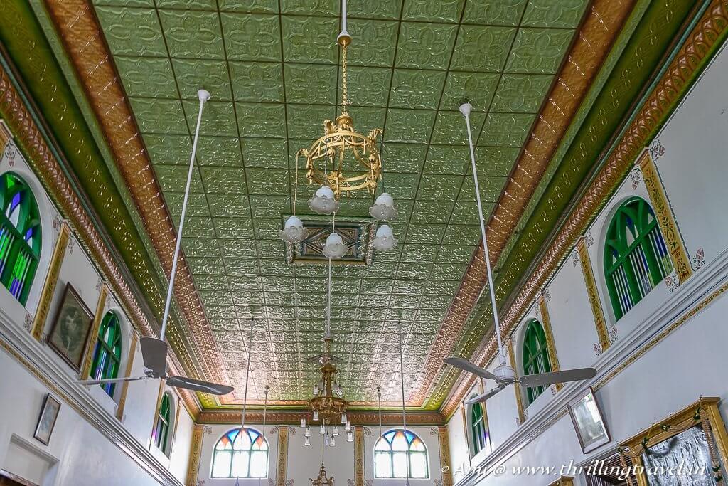 Kanadukathan palace ceiling