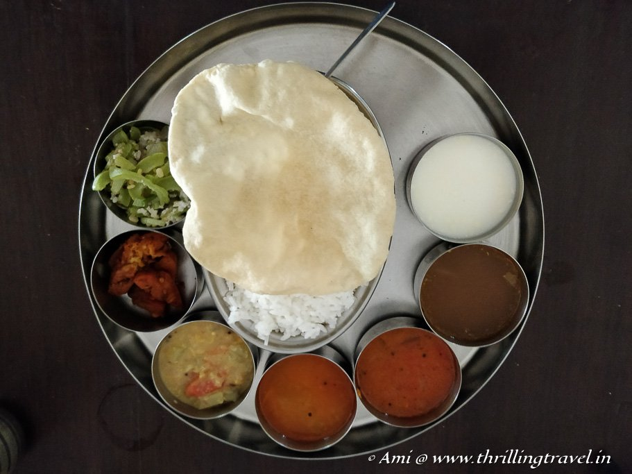 My Chettinad meal in Kanadukathan