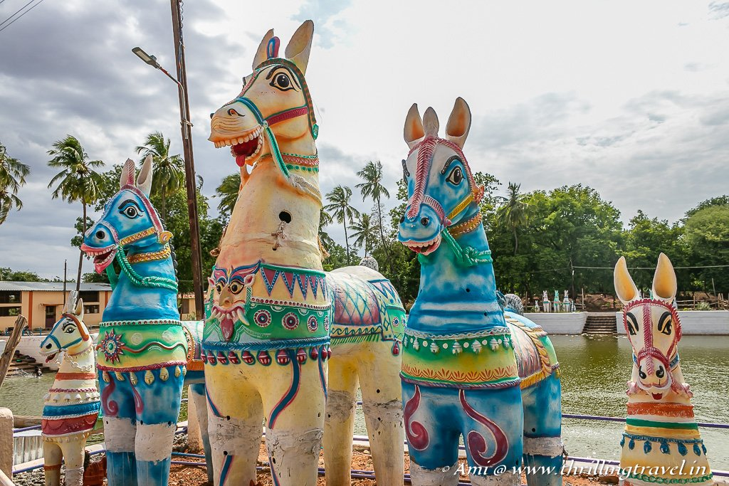 The Clay horses of Ayyanar Temple in Chettinad