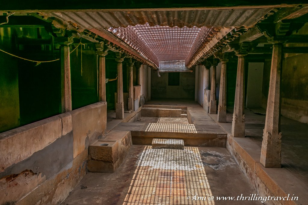 Moonamkattu - the kitchen courtyard of a home in Karaikudi