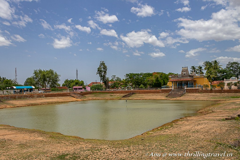 Village pond and temple at Kanadukathan