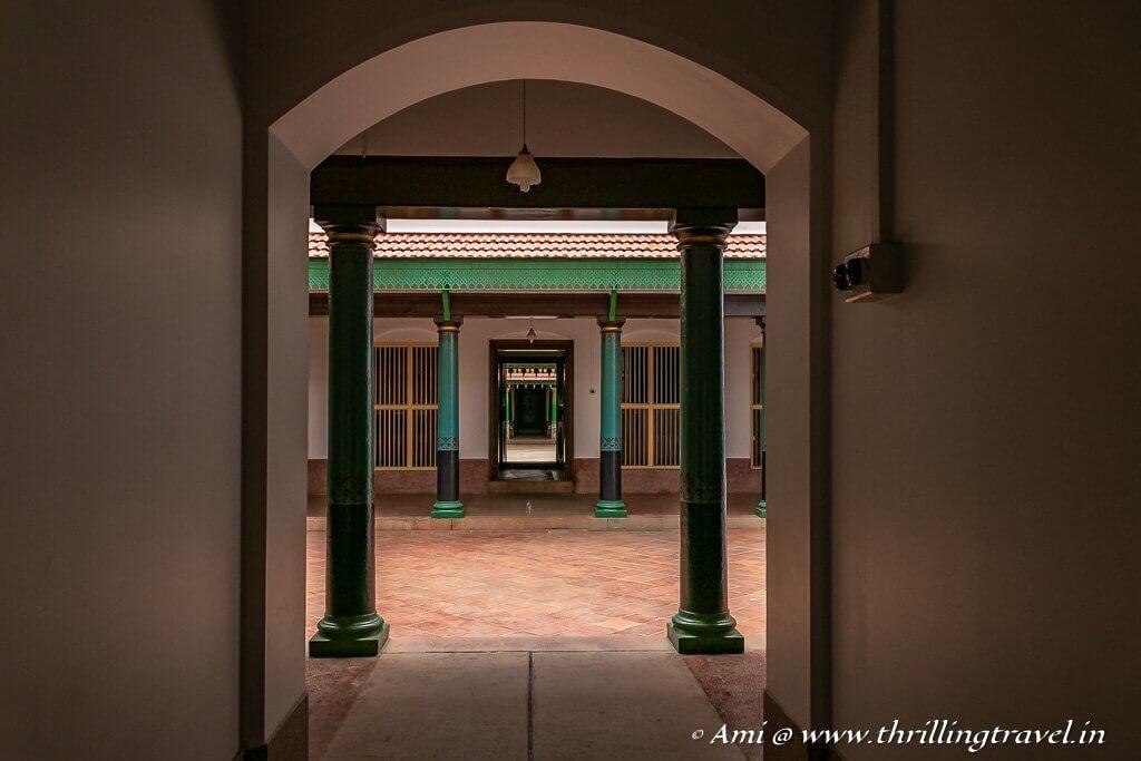 Inside Kanadukathan Palace in Karaikudi