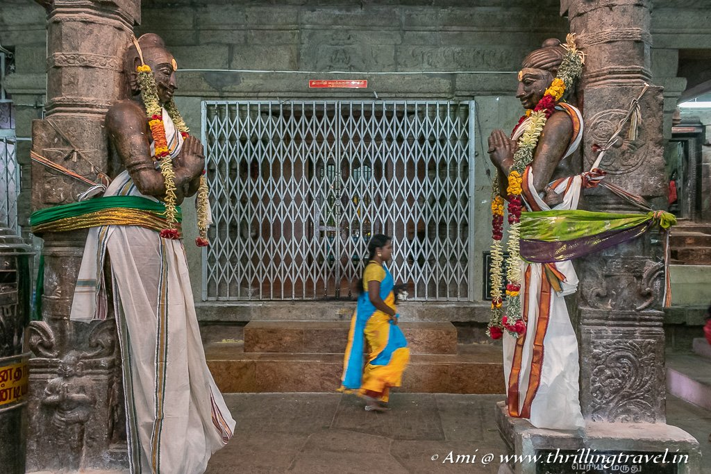 Inside Kundrakudi Murugan Temple in Karaikudi