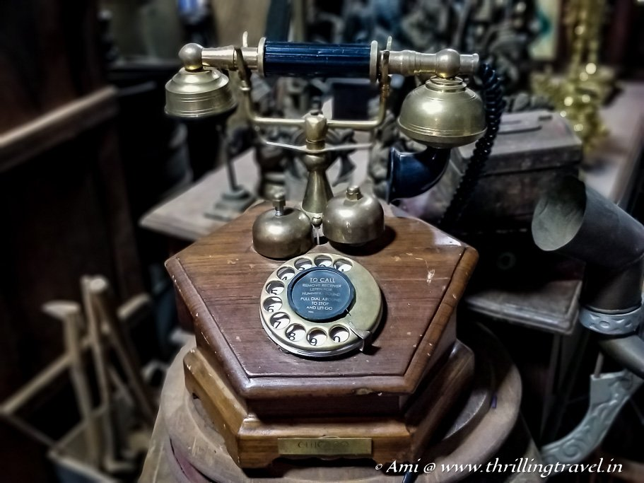 Old telephones that are still in a working condition