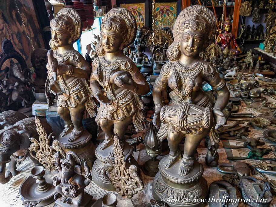 Bronze statues found in Karaikudi's market
