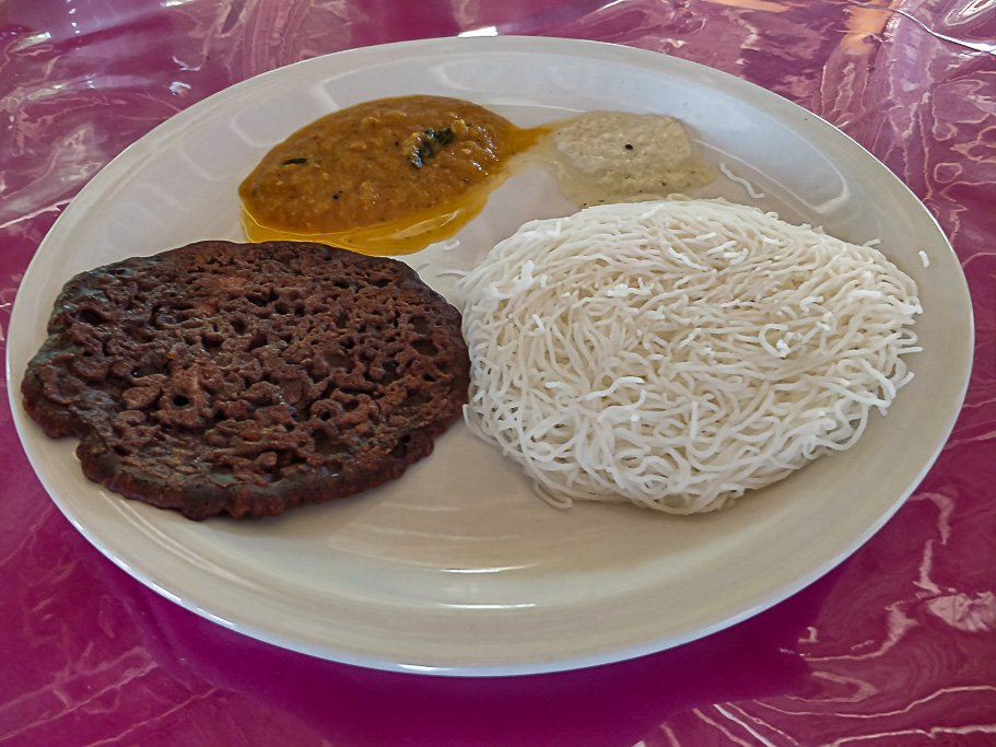Ragi Dosa and Iddiappam - our favorite Chettinad Breakfast