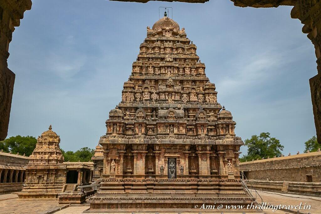 Airavatesvara temple with its vimana