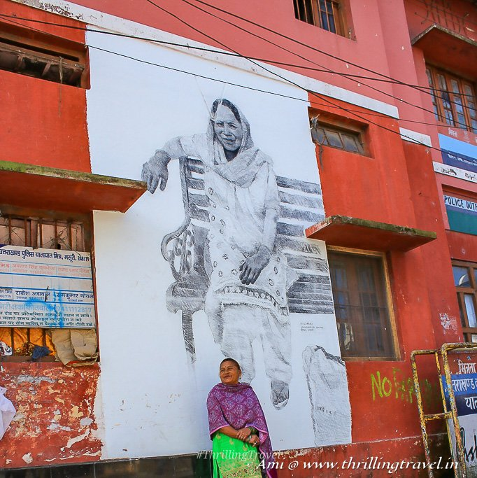 Deewaron pe Dastak with Krishna Ji - proudly posing in front of her own street art
