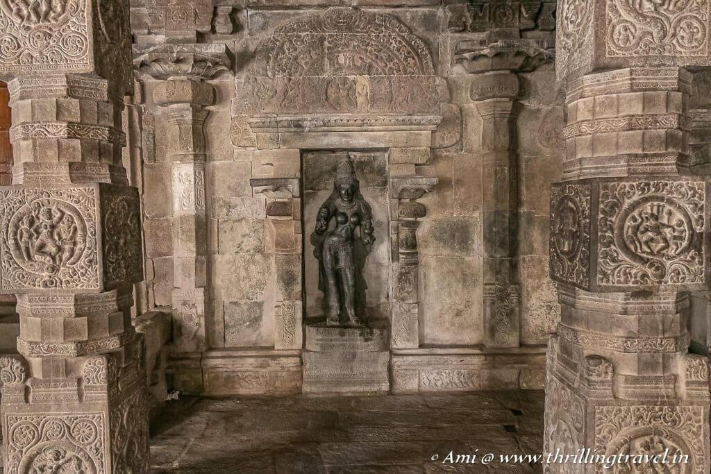 Ganga in one of the niches of the mahamandapam